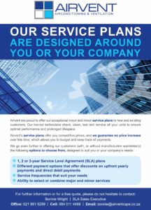 Airvent Airconditioning: Service Plan Flyer
